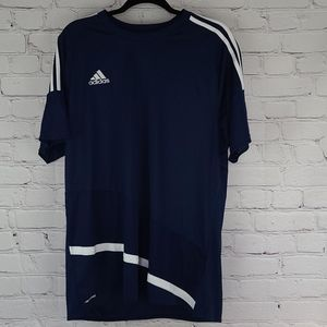 Adidas Blue And White Climacool Short Sleeve Shirt